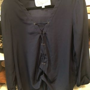 Silk tie front blouse from Rory Beca